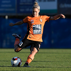 BRISBANE, AUSTRALIA - OCTOBER 30: Katrina Gorry of the Roar kicks the ball during the round 1 Westfield W-League match between the Brisbane Roar and Sydney FC at Spencer Park on November 5, 2016 in Brisbane, Australia. (Photo by Patrick Kearney/Brisbane Roar)