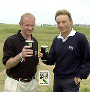 Pictured at the Murphy's Irish Open in Ballybunion were Alastair Spink from Murphy's and golfer Bernard Langer.Picture by Don MacMonagle.with compliments of Murphy's