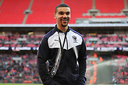 AFC Wimbledon striker Kweshi Appiah (9) walking off the pitch during the The FA Cup 3rd round match between Tottenham Hotspur and AFC Wimbledon at Wembley Stadium, London, England on 7 January 2018. Photo by Matthew Redman.