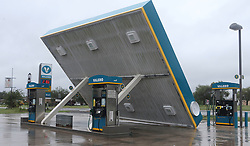 August 27, 2017 - Sutherland Springs, Texas - This Valero gas station in Sutherland Springs, Texas east of San Antonio is damaged after hurricane Harvey swept through the area Sunday. (Credit Image: © San Antonio Express-News via ZUMA Wire)
