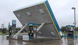 August 27, 2017 - Sutherland Springs, Texas - This Valero gas station in Sutherland Springs, Texas east of San Antonio is damaged after hurricane Harvey swept through the area Sunday. (Credit Image: © San Antonio Express-News via ZUMA Wire)