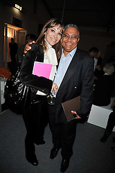 AURELIA BONITO and BIPIN DESAI at the Moet Hennessy Pavilion of Art & Design London Prize 2009 held in Berkeley Square, London on 12th October 2009.