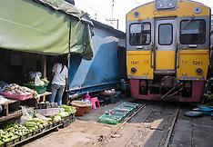 Maeklong Railway Market, Samut Songkram, Thailand