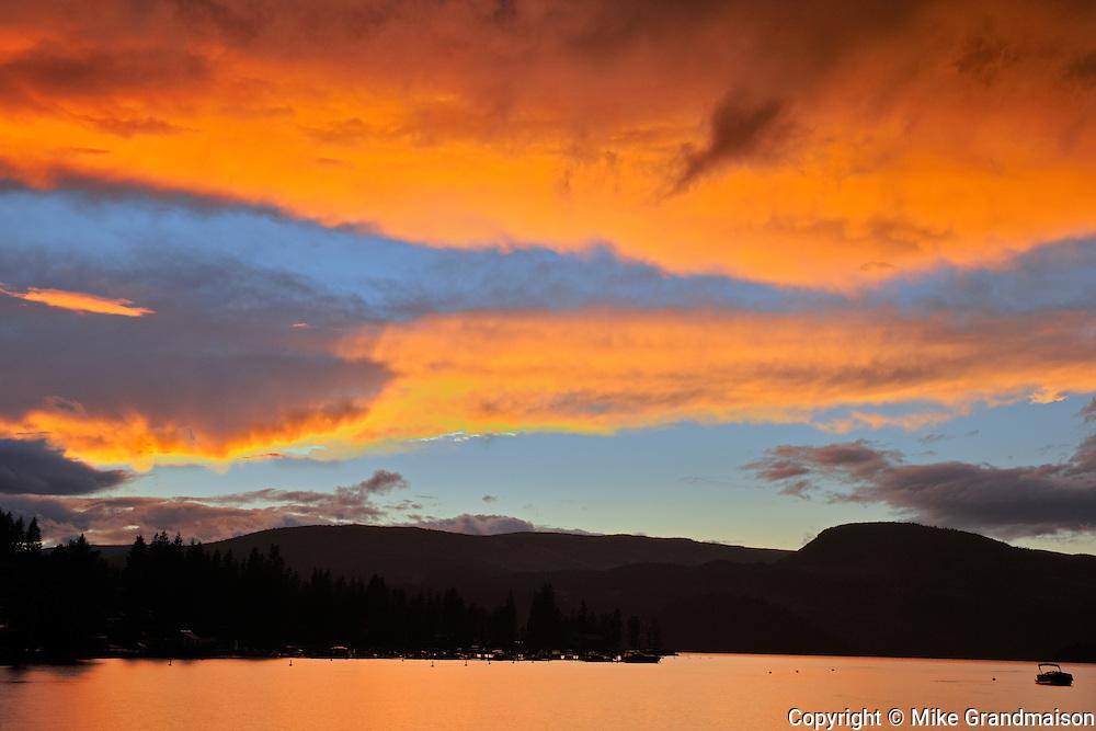 SUnset on Sushwap Lake<br /> Blind Bay<br /> British Columbia<br /> Canada