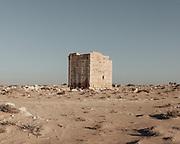 A pre-war ruin in the desert south of El Alamein.