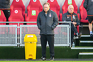 Middlesbrough manager Neil Warnock and Middlesbrough assistant manager Kevin Blackwell during the EFL Sky Bet Championship match between Brentford and Middlesbrough at Brentford Community Stadium, Brentford, England on 7 November 2020.