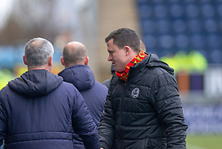 Falkirk's manager Ray McKinnon and Partick Thistle's manager Gary Caldwell at t he end. Falkirk 1 v 1 Partick Thistle, Scottish Championship game played 16/3/2019 at The Falkirk Stadium.