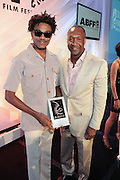 Miami Beach, Florida, NY-June 23: (L-R) Actor Robert Hunter and Jeff Friday, Founder, The American Black Film Festival attend the 2012 American Black Film Festival Winners Circle Awards Presentation held at the Ritz Carlton Hotel on June 23, 2012 in Miami Beach, Florida (Photo by Terrence Jennings)