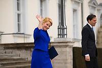 DEU, Deutschland, Germany, Berlin, 14.03.2018: Bundesfamilienministerin Dr. Franziska Giffey (SPD) nach der Ernennung des neuen Bundeskabinetts durch den Bundespräsidenten im Schloss Bellevue.