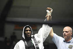 March 21, 2019 - Xx, USA - Abimbola Osundairo of Hamlin Park fights Xavier Morales of Windy City boxing in a 178-pound semifinal bout at the Golden Gloves boxing tournament Thursday, March 21, 2019 at Cicero Stadium in Chicago. (Credit Image: © Erin Hooley/Chicago Tribune/TNS via ZUMA Wire)
