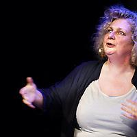 Nederland, Amsterdam , 11 september 2013.<br /> In de Balie.<br /> Een gesprek met kunstenares Marlene Dumas.<br /> Marlene Dumas (Kaapstad, 3 augustus 1953) is een in Zuid-Afrika geboren kunstenares. Zij woont en werkt sinds 1976 in Amsterdam en wordt als een Nederlandse kunstenares beschouwd.<br /> A public conversation with artist Marlene Dumas in cultural center De Balie in Amsterdam.<br /> Foto:Jean-Pierre Jans
