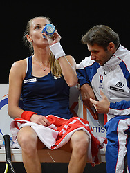 08-02-2015 NED: Fed Cup Nederland - Slowakije, Apeldoorn<br /> De Slowaakse kopvrouw Magdalena Rybarikova.