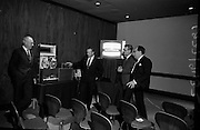 11/11/1967<br /> 11 November 1967<br /> <br /> The E.M.I. Exhibition at the Intercontinental Hotel <br /> <br /> Mr. S.G. Griffiths E.M.I. Electronics; Mr. Calin Bennit; Capt. Gerry Melinn Consultant Electronic Engineer and Mr. H Christmas of E.M.I