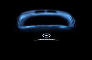 Image of a dark blue Mercedes Benz 300 SL Gullwing automobile by Randy Wells