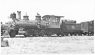"""RGS 2-8-0 #6 in Alamosa scrap line.<br /> RGS  Alamosa, CO  Taken by Rogers, Donald E. A. - ca. 1935<br /> A similar photo by Otto Perry is in """"RGS Story Vol. XII"""", p. 22."""