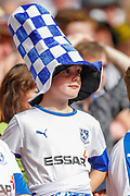 Tranmere Rovers football fans, football supporters, during the EFL Sky Bet League 2 Play Off Final match between Newport County and Tranmere Rovers at Wembley Stadium, London, England on 25 May 2019.