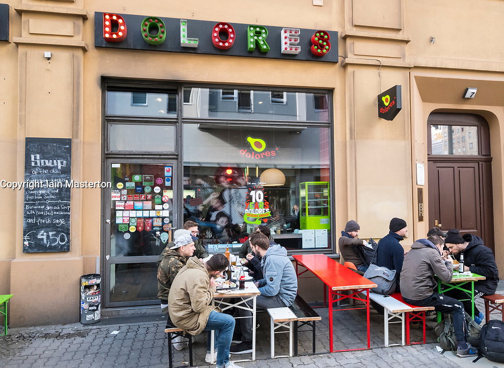 Dolores burrito fast food restaurant in Mitte Berlin, Germany
