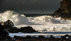 Atlantic waves pound the beach at Dalbeg (Dhailbeag), Isle of Lewis, Outer Hebrides, Scotland<br /> <br /> (c) Andrew Wilson | Edinburgh Elite media