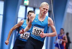 Andreas Lindgren. Danske Mesterskaber indendørs i atletik 2017  i Spar Nord Arena, Skive, Denmark, 18.02.2017. Photo Credit: Allan Jensen/EVENTMEDIA.