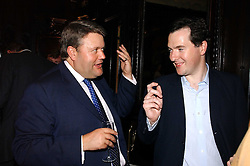 Left to right, LORD STRATHCLYDE and GEORGE OSBORNE MP  at a party to celebrate the publication of 'A History of The English Speaking Peoples Since 1900' hosted by Andrew Roberts and Susan Gilchrist at the English-Speaking Union, 37 Charles Street, London W1 on 11th September 2006.<br /><br />NON EXCLUSIVE - WORLD RIGHTS