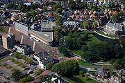 Nederland, Groningen, Veendam, 08-09-2009; centrum met aan Museumplein Cultuurcentrum Van Beresteyn en het Veenkoloniaal Museum.City centre .luchtfoto (toeslag); aerial photo (additional fee required); .foto Siebe Swart / photo Siebe Swart