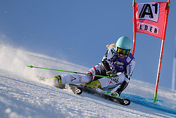 26.10.2013, Rettembach Ferner, Soelden, AUT, FIS Ski Alpin, FIS Weltcup, Ski Alpin, 1. Durchgang, im Bild Eva-Maria Brem from Austria races down the course // Eva-Maria Brem from Austria races down the course during 1st run of ladies Giant Slalom of the FIS Ski Alpine Worldcup opening at the Rettenbachferner in Soelden, Austria on 2012/10/26 Rettembach Ferner in Soelden, Austria on 2013/10/26. EXPA Pictures © 2013, PhotoCredit: EXPA/ Mitchell Gunn<br /> <br /> *****ATTENTION - OUT of GBR*****