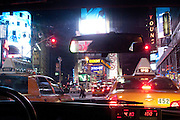 New York, New York. United States. May 7th 2010..In a cab in Times Square