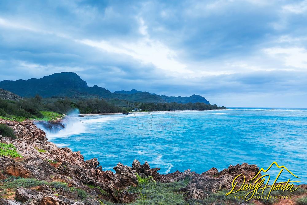 Punahoa Point south of Poipu, Hawaii on the Island of Kauai