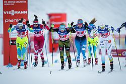 Vesna Fabjan (SLO), Sandra Ringwald (GER), Ida Ingemarsdotter (SWE) during the ladies team sprint race at FIS Cross Country World Cup Planica 2016, on January 17, 2016 at Planica, Slovenia. Photo by Ziga Zupan / Sportida