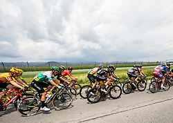 Peloton during 2nd Stage of 27th Tour of Slovenia 2021 cycling race between Zalec and Celje (147 km), on June 10, 2021 in Slovenia. Photo by Vid Ponikvar / Sportida