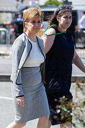 © Licensed to London News Pictures . 22/05/2018 . Manchester , UK . NICOLA STURGEON arrives at Manchester Cathedral for a Service of Remembrance on the first anniversary of the Manchester Arena bombing . On the evening of 22nd May 2017 , Salman Abedi murdered 22 people and seriously injured dozens more , when he exploded a bomb in the  foyer of the Manchester Arena as concert-goers were leaving an Ariana Grande gig . Photo credit : Joel Goodman/LNP