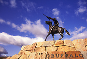 Image of Buffalo Bill - The Scout statue at the Buffalo Bill Historical Center in Cody, Wyoming, Pacific Northwest by Randy Wells