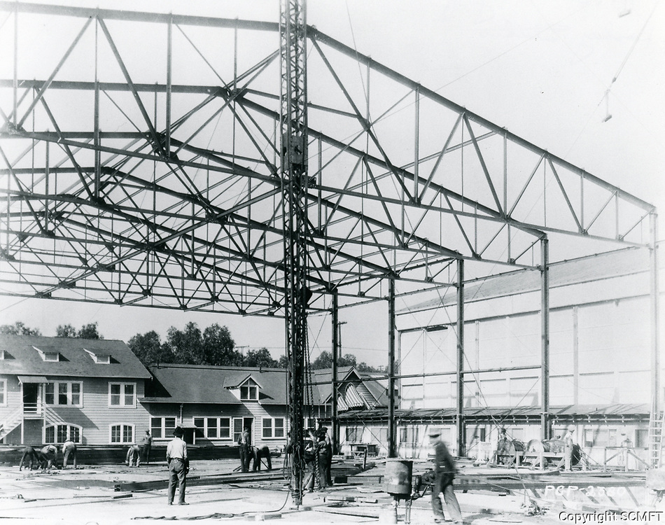 1919 Constructing a new stage at Famous Players Lasky Studios