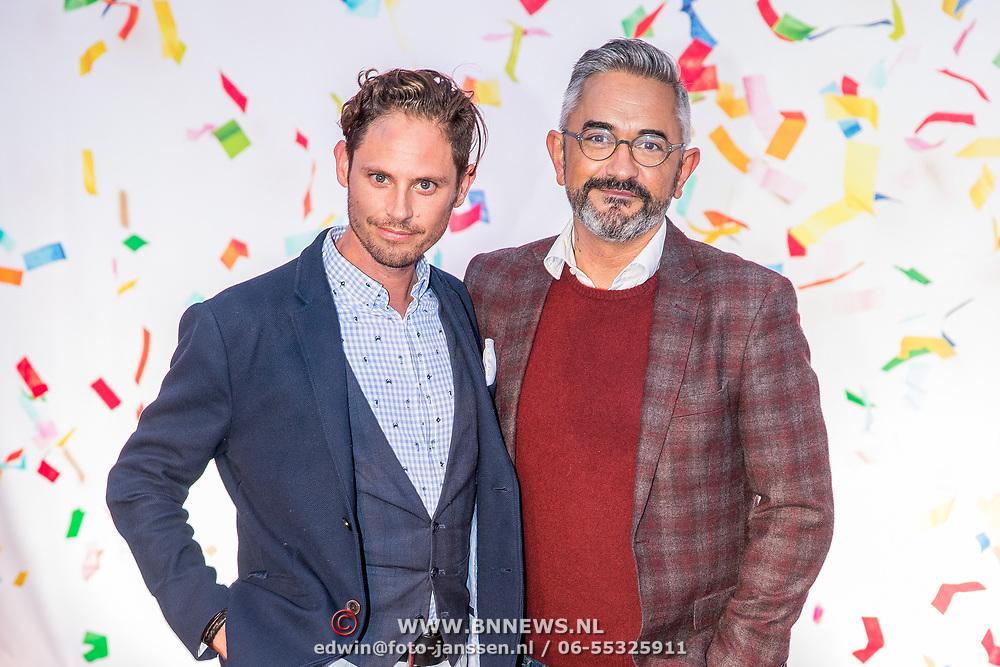 NLD/Amsterdam/20170919 - Opening Hudson Bay Nederland, Edwin Oudshoorn en partner