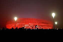 02.11.2011, Allianz Arena, Muenchen, GER, UEFA CL, FC Bayern Muenchen vs. SSC Neapel, im Bild  Allianz Arena im Nebel// during the CL match  FC Bayern Muenchen (GER)  vs.  SSC Neapel  (ITA) Gruppe A, on 2011/11/02, Allianz Arena, Munich, Germany, EXPA Pictures © 2011, PhotoCredit: EXPA/ nph/  Straubmeier       ****** out of GER / CRO  / BEL ******