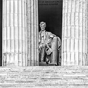 The steps leading into the Lincoln Memorial in Washington, D.C.