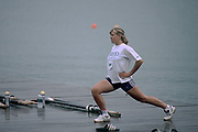 Atlanta, Georgia, USA, Olympic Rowing Regatta Lake Lanier, NED W8+ One of the Dutch girls from the eight loosen's up, [Mandatory Credit Peter Spurrier/ Intersport Images]