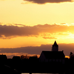 Jonesport, ME. The fishing village of Jonesport, Maine enjoys a summer sunset.