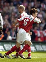 Picture: Henry Browne, Digitalsport<br /> Date: 16/04/2005.<br /> Arsenal v Blackburn FA Cup Semi-Final.<br /> Cesc Fabregas replaces Fredrik Ljungberg in the second half.