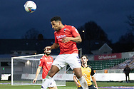 Salford City's Ibou Touray (3) in action during the EFL Sky Bet League 2 match between Newport County and Salford City at Rodney Parade, Newport, Wales on 16 January 2021.