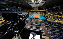 07-11-2010 VOLLEYBAL: WORLD CHAMPIONSHIP: PERU - KOREA: TOKYO<br /> Korea beat Peru with 3-1 / Vieuw Yoyogi National Stadium with camera - illustratief creative<br /> ©2010-WWW.FOTOHOOGENDOORN.NL