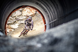 14.06.2014, Bike Park, Leogang, AUT, UCI, Mountainbike Weltcup, Leogang, Downhill, Herren, im Bild Isak Leivsson (NOR) // during Mens Downhill of UCI Mountainbike Worldcup at the Bikepark, Leogang, Austria on 2014/06/14. EXPA Pictures © 2014, PhotoCredit: EXPA/ JFK