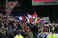 Lille fans display their colours - UEFA Europa League - Everton vs  Lille - Goodison Park Stadium - Liverpool - England - 6th November 2014 - Pic Simon Bellis/Sportimage