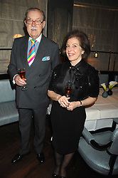 ALAN WHICKER and his wife VALERIE at a party to promote The Landau at The Langham, Portland Place, London W1 on 7th February 2008.<br /><br />NON EXCLUSIVE - WORLD RIGHTS