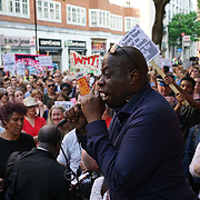 London,England,UK. 16th June 2017. Hundreds protest at the Department for Communities and Local Government march to Downing Street and to BBC boardcasting house demand Justice for Grenfell victims and Theresa May resign in London.