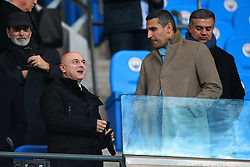 Tottenham Hotspur chairman Daniel Levy speaks with Manchester City chairman Khaldoon Al Mubarak - Mandatory by-line: Matt McNulty/JMP - 16/12/2017 - FOOTBALL - Etihad Stadium - Manchester, England - Manchester City v Tottenham Hotspur - Premier League