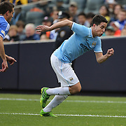 Samir Nasri, Manchester City,  in action during the Manchester City V Chelsea friendly exhibition match at Yankee Stadium, The Bronx, New York. Manchester City won the match 5-3. New York. USA. 25th May 2012. Photo Tim Clayton