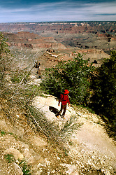 AZ, Grand Canyon National Park, Arizona, Hiker.Photo Copyright: Lee Foster, lee@fostertravel.com, www.fostertravel.com, (510) 549-2202.azgran205