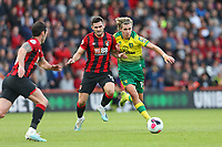 Football - 2019 / 2020 Premier League - AFC Bournemouth vs. Norwich City<br /> <br /> Todd Cantwell of Norwich City gets pushed off the ball by Bournemouth's Lewis Cook during the Premier League match at the Vitality Stadium (Dean Court) Bournemouth  <br /> <br /> COLORSPORT/SHAUN BOGGUST