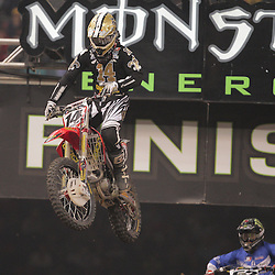 14 March 2009: Kevin Windham (14) gains air during the Monster Energy AMA Supercross race at the Louisiana Superdome in New Orleans, Louisiana